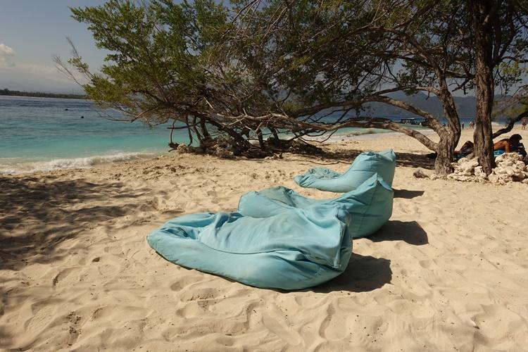 BEACH CHAIRS IN GILI MENO INDONESIA by Lori Zaino