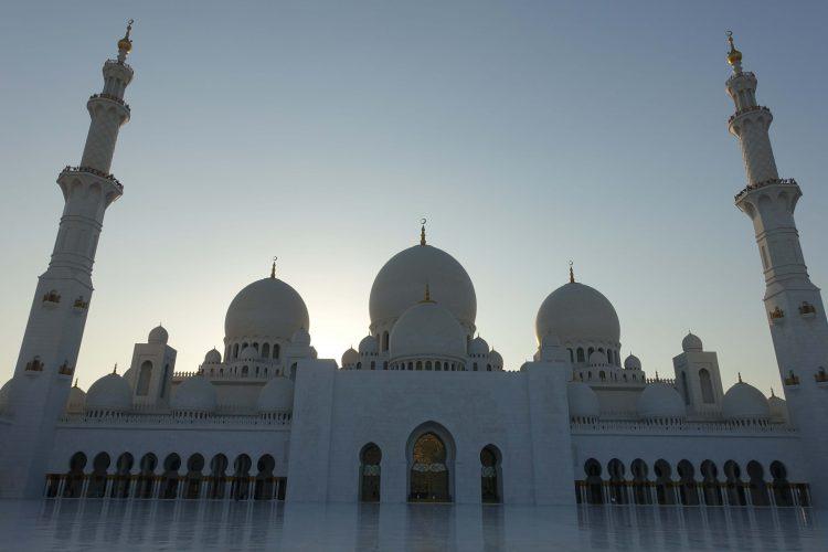 The Sheik Zayed Mosque in Abu Dhabi by Lori Zaino