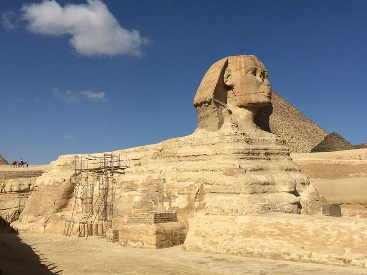 The Sphinx in Cairo, Egypt by Lori Zaino
