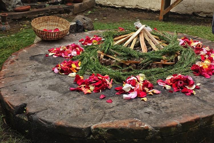 An indigenous fire ceremony in Guatemala by Lori Zaino