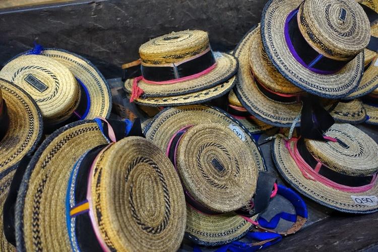 Hats for sale in Antigua, Guatemala by Lori Zaino