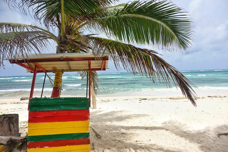 A beach in San Andres, Colombia by Lori Zaino