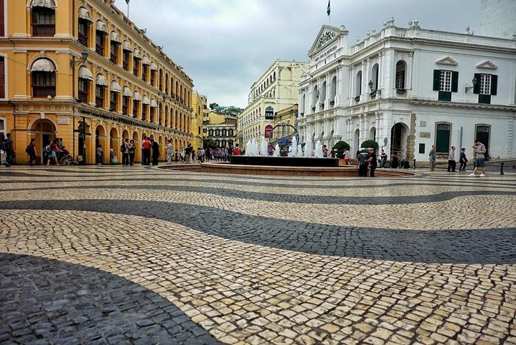 The Portuguese neighborhood in Macau by Lori Zaino