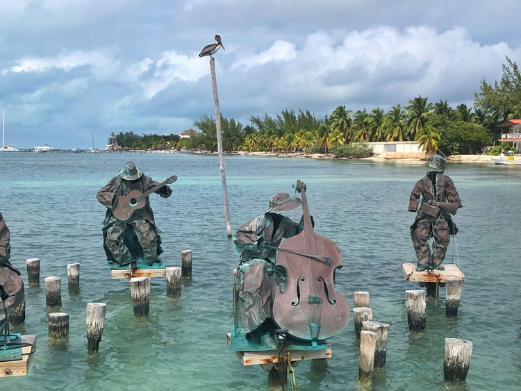 statue symphony in Isla Mujeres Mexico